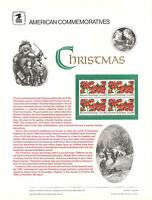 #2166 22c Christmas Poinsettia USPS #253 Commemorative Stamp Panel