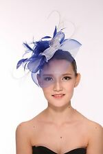 Kentucky Derby Wedding Feather Floral Organza Headband Fascinator Hat