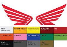 "2X HONDA Wings Symmetric Vinyl Sticker Decal 3""x4.25"" Car Motorcycle Logo Racing"