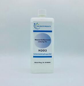 Wasserstoffperoxid Lösung 3% - 1 Liter - 1000 ml - unstabilisiert - rein