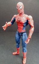 "Marvel Spiderman Long Neck Articulated Action 6"" Figure Blue 2002"
