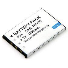 Battery for NP-20 Casio Exilim EX-S20U EX-S3 EX-S500 EX-S600 EX-S600D EX-S770