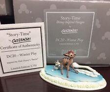 Olszewski WINTER PLAY Story Time  DC 20 NIB COA Disney Bambi