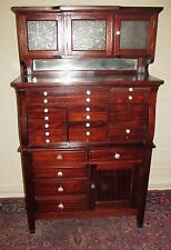 FINE 19TH CENTURY 20 DRAWER MAHOGANY DENTAL CABINET BY THE AMERICAN CABINET CO.