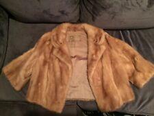 Vintage William H. Harris Chestnut Colored Dress Mink Coat/Cape/Stole