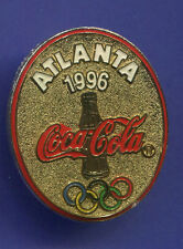 1996 OLYMPIC COCA-COLA PIN COKE GOLD OVAL PIN WITH COKE BOTTLE