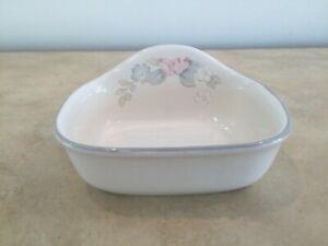 Pfaltzgraff Wyndham Soap Dish Off White Ceramic with Pastel Floral & Blue Band