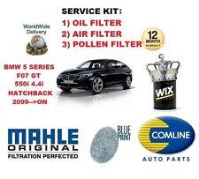 Para BMW 5 Series F07 Gt 550 4.4 2009 -- & gton Aceite Aire Polen Filtro Kit De Servicio