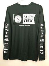 Salty Crew Rashguard Alpha L/S Tech Tee Men's Dark Green Large code 24-90 NWT