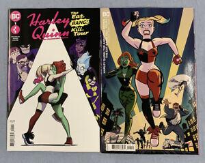 DC Comics HARLEY QUINN THE ANIMATED SERIES THE EAT BANG KILL TOUR #1 Both Covers