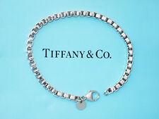 Tiffany & Co Sterling Silver Venetian Link Mens Small 7.5 Inch Bracelet