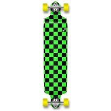 Punked Checker Graphic Speed Drop down Longboard Complete skateboardsGreen