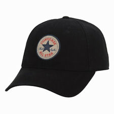 CONVERSE MENS BASEBALL CAP.NEW TIP OFF CHUCK BLACK ADJUSTABLE STRAPBACK HAT 8474