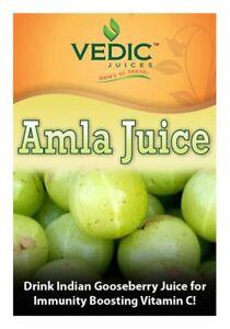 Vedic Secrets Alma Juice Gooseberry Vitamin C Immune Support - 1 Liter Bottle