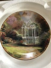 "Thomas Kinkade's Simpler Times Calendar Plate - May - ""Lilac Gazebo"""
