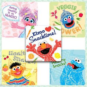 Sesame Street Stickers x 5 - Healthy Quotes - Motivate/Encourage/Rewards/Favours