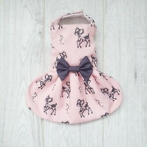 Pink Handmade Bambi Boutique Dog Dress  - Small Puppy Chihuahua