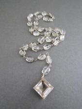 Vintage Sterling Silver Gilt Citrine Necklace