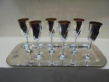 MARTEN Set Vassoio + 6 calici  silver plated
