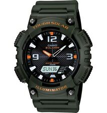 Casio AQS810W-3AV Men's Green Solar Analog Digital World Time Sports Watch