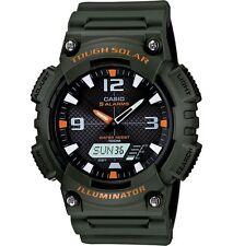 Casio AQS810W-3A Men's Green Solar Analog Digital World Time Sports Watch