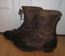 Double H Fancy Lace Up 2-Tone Vintage Looking Boot 13 D