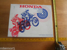 1975 Honda Motorcycles shop owners 3-Phase Charge pamphlets cassette tape in box