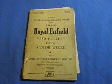 Royal Enfield Spare and Replacement Parts List, 1958-59, 350, Bullet        0831