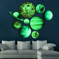 Glow In The Dark Planets Solar System Wall Stickers Decor Room Kids Decal O6S7