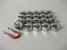 Wheel Nut Covers 17mm Chrome Fit Seat Alhambra Altea Ibiza Leon Toledo (PE1150)