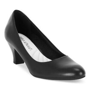 Easy Street Women Block Heel Classic Pump Heels Fabulous Faux Leather