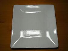 "Ipatrizi Italy WHITE SQUARE Set of 4 Dinner Plates 11 5/8"" Smooth Glossy Heavy"