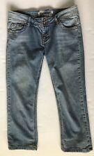 """C'est Toi Junior Size 9 Capri Cropped Jeans Flap Pockets 24"""" Inseam #N15"""