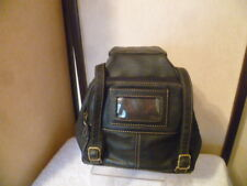 AURIELLE Black Leather Mini Backpack Purse - EXC