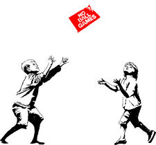 VINILO DECORATIVO PARA PARED CALIDAD EXTRA -BANKSY -no balls game-