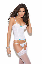 White Mesh Bustier, Elegant Moments, 12-14, Sexy Bridal Lingerie, Wedding Corset