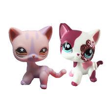 Hasbro Little Pet Shop Collection LPS Short Hair Standing purple& pink  Cat #88