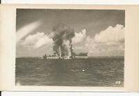 WWII 1940s Official US Navy Photo #26 Okinoyamo Maur sinking, sunk at Okinawa