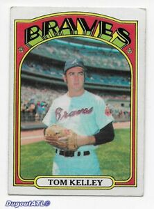 ⚾️ 1972 ~ Topps #97 ~ Tom Kelley ~ Braves ~ Vg=3