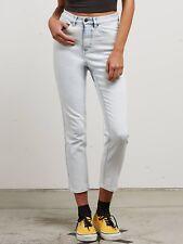 2018 NWT WOMENS VOLCOM VOL STONE JEAN $65 S sun faded indigo jeans