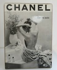 Vintage Chanel store display advertising counter stand up lady  bath photograph