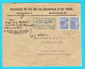 TURKEY R cover 1913 Bagdad from railroad Bagdad Bahn to Germany