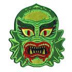Fish Face Creature Patch Iron On Classic Lagoon Horror Retro Vintage Halloween