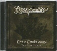 RHAPSODY  -  LIVE IN CANADA 2005 ,THE DARK SECRET.   /   IMPORT.   LUCA TURILLI.