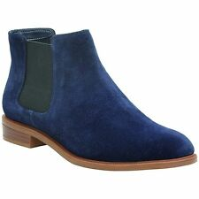 Clarks Suede Upper Block Slip On Shoes for Women