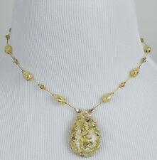 DABBY REID NEW Graphic Feldspar 24 K Gold Plated Pendant Necklace ASN8184G Y26