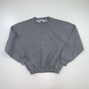 Vintage 90s Russell Athletic Crewneck Sweatshirt Adult Medium Gray