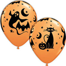 "HALLOWEEN PARTY SUPPLIES BALLOONS 10 x 11"" QUALATEX FUN & SPOOKY ICONS BALLOONS"
