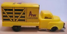 """Old Tin Plastic Friction Toy Stake Truck Livestock 4  1/8"""" Japan 1950s-60s Nice!"""