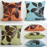 Cushions Cushion Covers Faux Suede Floral Scatter Cushion Blue,Orange Lime Green